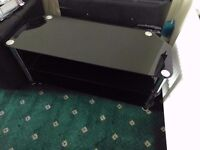 GLASS TV STAND - MINT CONDITION