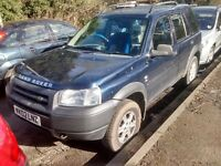 2002 Land Rover Freelander 2.0 TD4 GS station wagon 5dr auto blue 644 BREAKING FOR SPARES