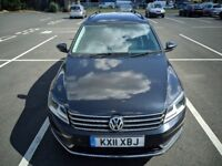 VW Volkswagen Passat Estate 2011 MK7 1.6 TDI Diesel BlueMotion Tech SE Black MANUAL Full SERVICE MOT