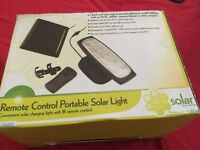 10 LED Portable Solar Light with Remote Control
