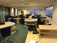 office furniture including desks, chairs, office storage etc
