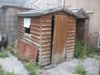 Free wooden garden shed
