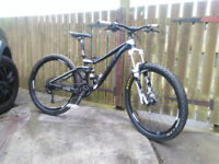 "2015 Giant Trance 4, Size 14"" Small, Large 27.5"" (650b) wheels, reliable trail steed."