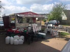Catering trailer and all equipment you need to start your own mobile catering business