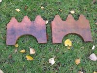 """Border edging tiles - Victorian (probably genuine). 10"""" long * 7.5"""" high, qty 76"""