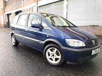 Vauxhall Zafira 2005 1.8i 16v Design 5 door 7 SEATER, STARTS & DRIVES, AUTOMATIC BOX