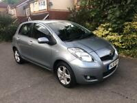 2010 (10) Toyota Yaris 1.33 VVT-i TR 5dr VERY LOW MILEAGE ONLY £30 ROAD TAX