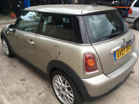 2007 MINI ONE SILVER 1.4 89000 MILES HPI CLEAR SALVAGE RUN AND DRIVE MISFIRING SPARES