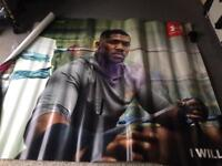 7ft Anthony Joshua posters x2