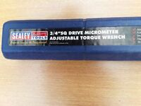 Sealey 3/4 inch sq drive adjustable torque wrench . Available 9th of August.