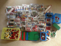HUGE JOB LOT BUNDLE OF VINTAGE LEGO, SETS, PARTS, BASES, WHEELS, TREES ETC