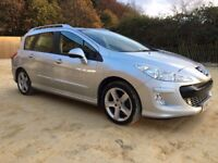 PEUGEOT 308 SW SPORT 7 SEATER 2008 1.6 HDI TURBO FAP SWAP FOR JEEP 4X4