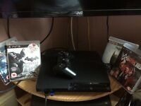 PS3, 1 controller and 4 games, good condition