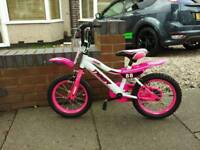 "Girls 14"" bmx style bike"