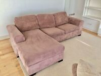 Large Right Hand Facing Arm Open End Corner Sofa and Matching Large Armchair