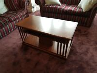 Beautiful walnut coffee table in great condition, South Woodford