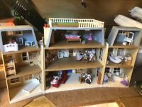 Sylvanian Families Hotel with furniture and figures