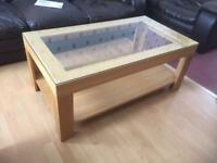 Homebase St Austell Glass Top Coffee Table