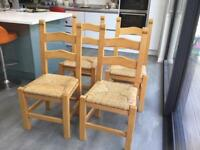 Solid pine kitchen / dining chairs
