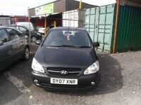 2007 HYUNDAI GETZ 1.1 FULL MOT CHEAP INSURANCE SO IDEAL FIRST CAR