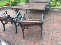 Good Quality Heavy Cast Iron Garden Furniture Patio Set Can Deliver - WR