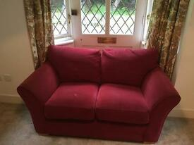 Red Double Sofa.