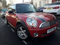 MINI COOPER 1.6 HATCHBACK 2007 NEW SHAPE 10 STAMPS XENON RED LEATHERS FULL HI...