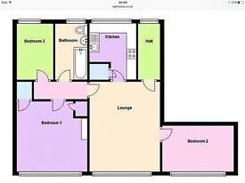2/3 bed flat to rent