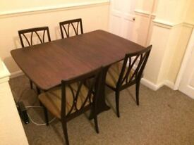 Folding Dining Table Set and Four Chairs