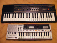 TWO VINTAGE RETRO ELECTRONIC CASIO KEYBOARDS