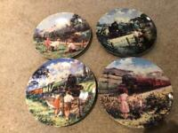 4 Train Plates The Bradford Exchange The Golden Age of Steam Collection R525 Excellent condition