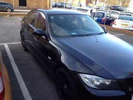 Black BMW 320i. Customised with M Sport kit and MV3 Alloys.