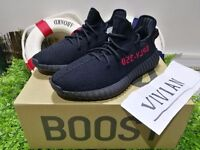 Adidas Yeezy Boost 350V2 Real Boost Core Bred uk3~12
