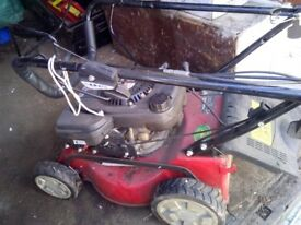 petrol lawnmower. ,strimmer and chainsaw