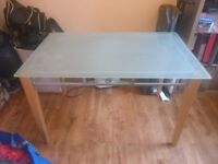 Glass top table / desk - ideal for office space.