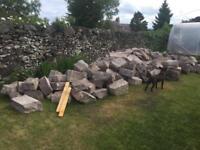 Large stones - dry stone walling or rockery