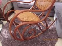 Vintage bentwood rocking chair, high quality! hand carved.