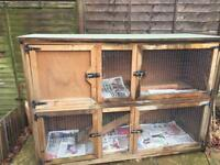 Extra Large Double Rabbit Hutch 6ft x 4ft