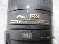 Nikon DX AF-S VR Nikkor Lens - 55-300mm 1:4.5-5.6 G ED