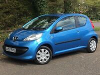 2007 PEUGEOT 107 URBAN, 1.0 ENGINE, 3 DOORS, ONE OWNER FROM NEW & FULL HISTORY.