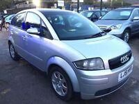 Audi A2 1.4 5dr£1,495 p/x welcome FREE WARRANTY. NEW MOT