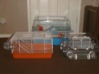 HAMSTER CAGES WITH TUBES £10 TO £15