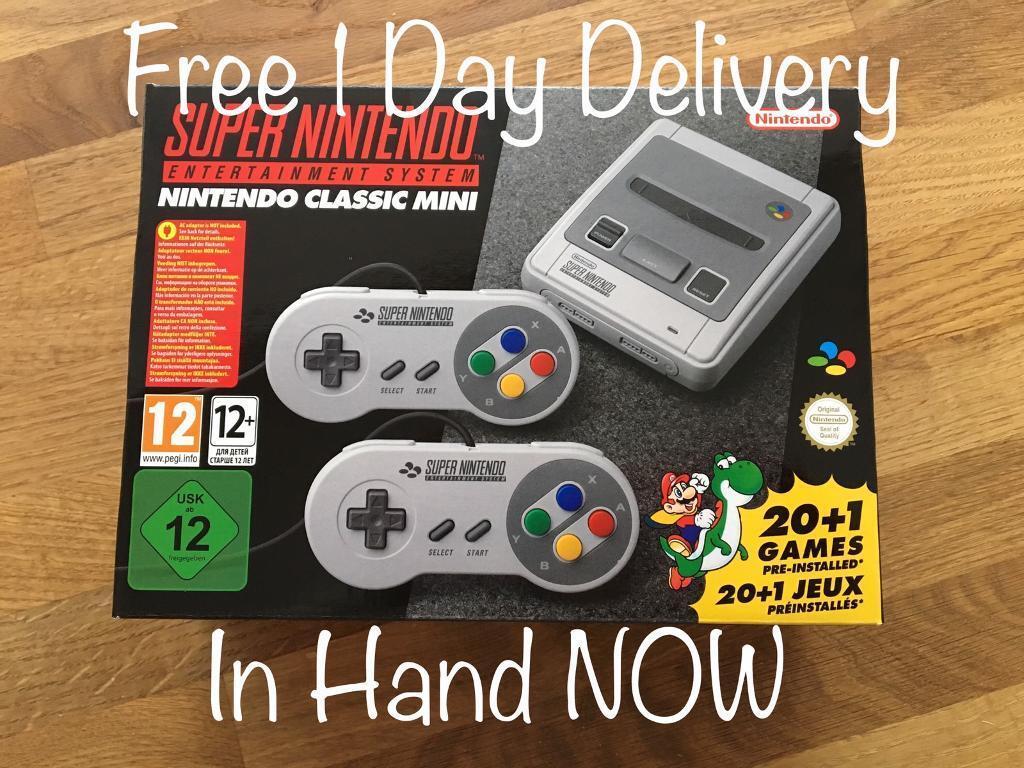 Nintendo Classic Mini - SNES Super Nintendo - collection or delivery