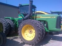 2002 John Deere 9520 Articulated 4WD Tractor with Duals