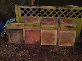 """18"""" slabs red and buff slabs x 65"""