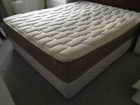 King size base and pocket sprung mattress