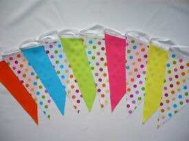3m length Colourful Party Bunting Larger lengths can be made Price from £4.75 for 3m