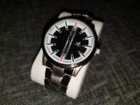 8d41bcf89eb3 Smart Gents Fashion Black and White Face Watch   BRAND NEW