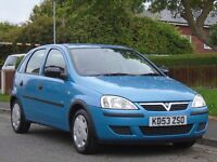 Vauxhall Corsa 1.2 i 16v Life 5dr£799 p/x welcome LONG MOT,LOW TAX,LOW INSURANCE