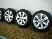 "Mercedes 16"" Refurbished wheels with good tyres."